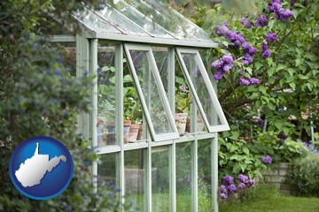 a garden greenhouse - with West Virginia icon